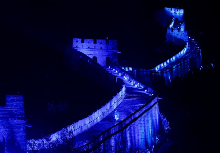 A portion of the Great Wall of China, in Badaling.  Photograph: Rolex Dela Pena/EPA