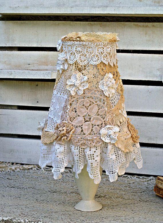 Lampshades Lamp shades Shabby Chic Lampshade Handmade Lamp