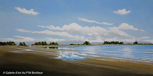 Allan Dunfield, 'Beach Serenade', 24'' x 48'' | Galerie d'art - Au P'tit Bonheur - Art Gallery