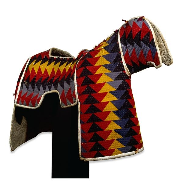 Quilted cotton horse armour