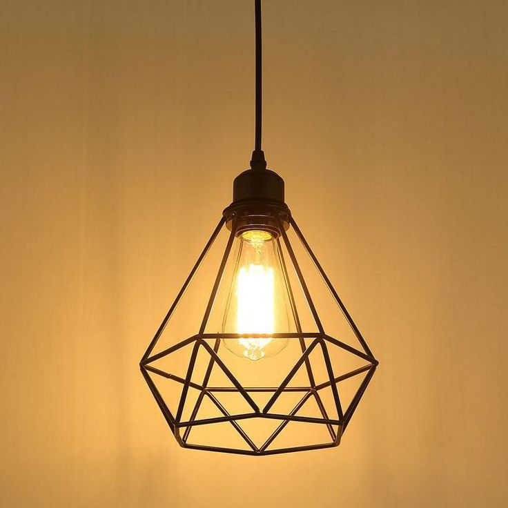 Industrial Diamond Cage Pendant Light
