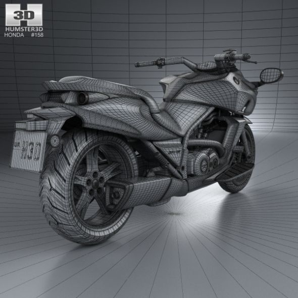 Honda DN-01 Cruisers Motorcycle Vehicles 3D Models