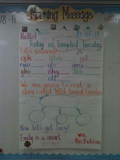 First Grade...Hooray!: Morning Message
