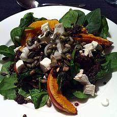 salade met linzen en pompoen