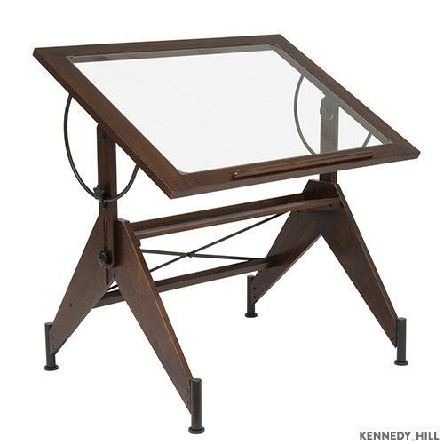 Glass Drafting Table Drawing Desk Art Studio Craft Wood Designs Home Office  New - 18 Best Images About Drafting Tables On Pinterest Steampunk