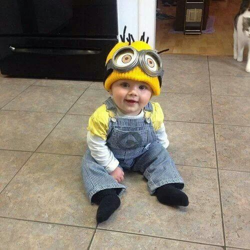 Minion baby costume my favorite new characters minions this one turned human yeh!