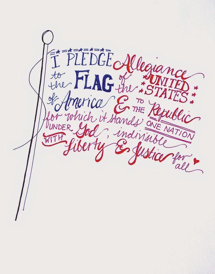 Pledge of Allegiance free July 4th printable