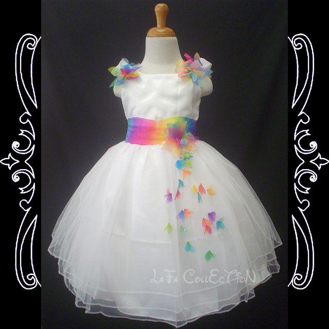 MiddleS Flower Girls Pageant Princess NEW White Dress 2,3,4,5,6 | eBay