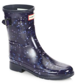 Hunter Refined Constellation Print Short Rain Boots