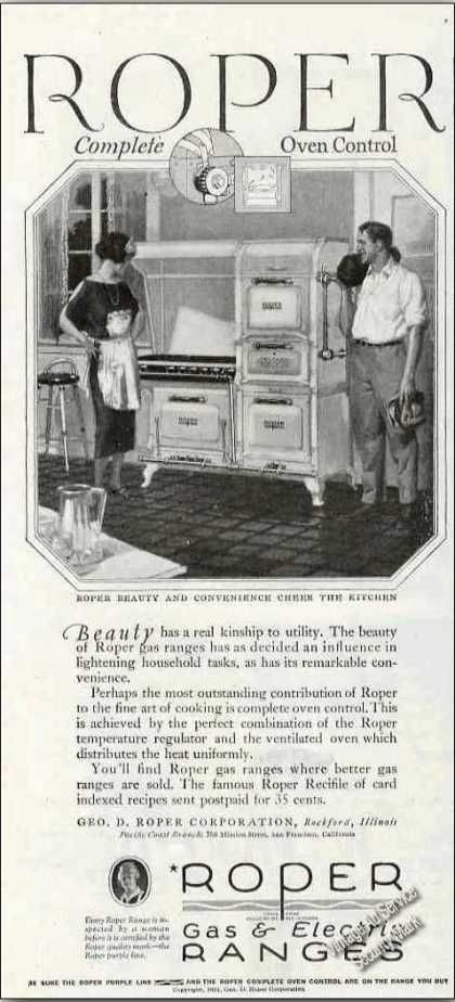 #tbt This #ThrowbackThursday we have one of those classy newfangled gas and electric ranges! Roper Gas Range Collectible (1924)