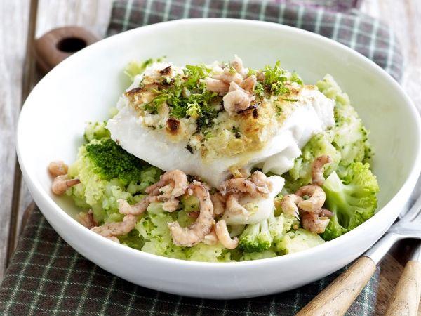 Broccolistoemp met vis en garnalen - Libelle Lekker!