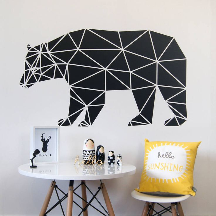 Geometric Bear Wall Sticker
