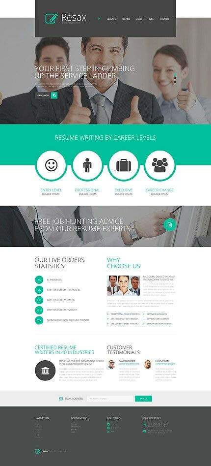 46 best Diseño Web Worpress (Blogs o CMS) images on Pinterest - wordpress resume template