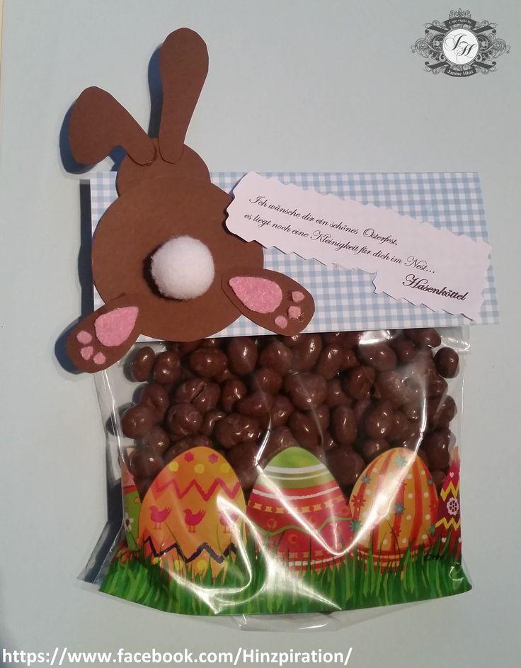 Süße Geschenkidee für Ostern - Hasenköttel (hier Schokorosinen)
