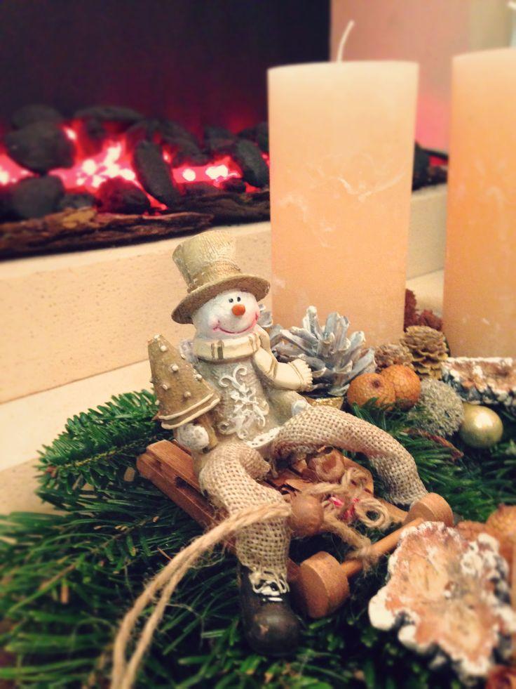 Adventi koszorú hóemberrel Mr. Christmas Snowman