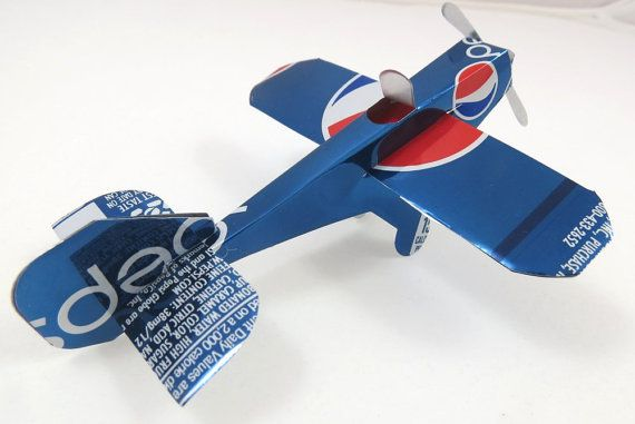 how to make an airplane using recycled materials