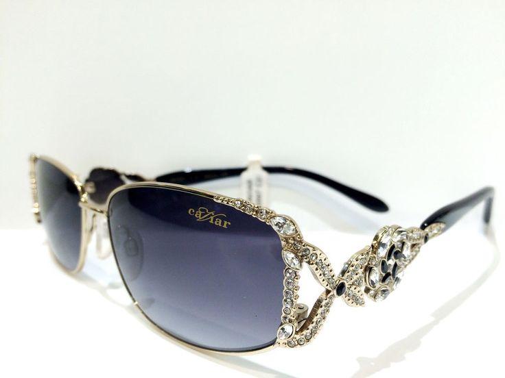 Caviar Womens Sunglasses Glasses M 5597 C 21 BLACK/GOLD W/ SWAROVSKI CRYSTALS…