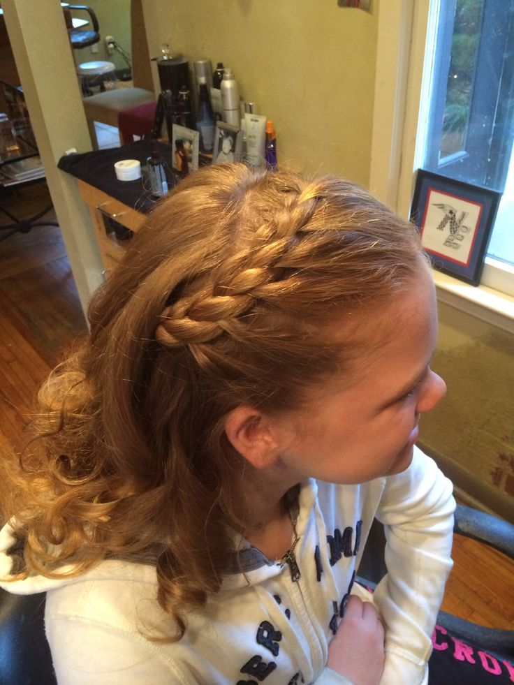 Young girl hairstyle