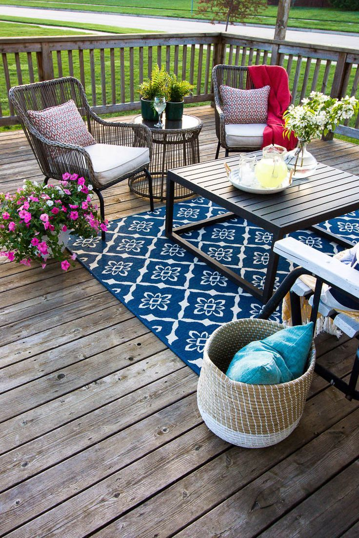 Summer Deck Decorating Ideas Summer Deck Decor Deck Decorating