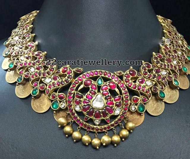 Kasu Peacock Necklace