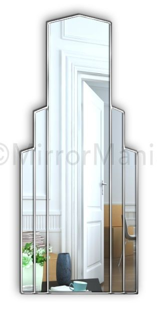 Empire Original Handcrafted Art Deco Full Length Mirror - Art Deco - Mirrors