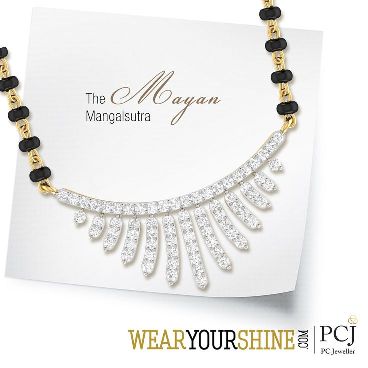 "Get back in time with this classic yet timeless jewellery - ""The Mayan Mangalsutra"" by WearYourShine.  #WearYourShine #PCJewellers #Jewellery #Jewelry #IndianJewellery #Mangalsutra #Wedding #Engagement #Hitched"