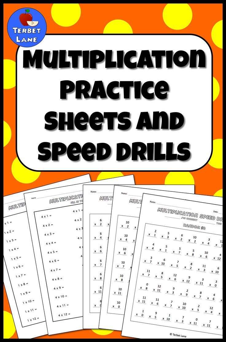 Print and go multiplication facts practice sheets and speed drills. Multiplication worksheets.