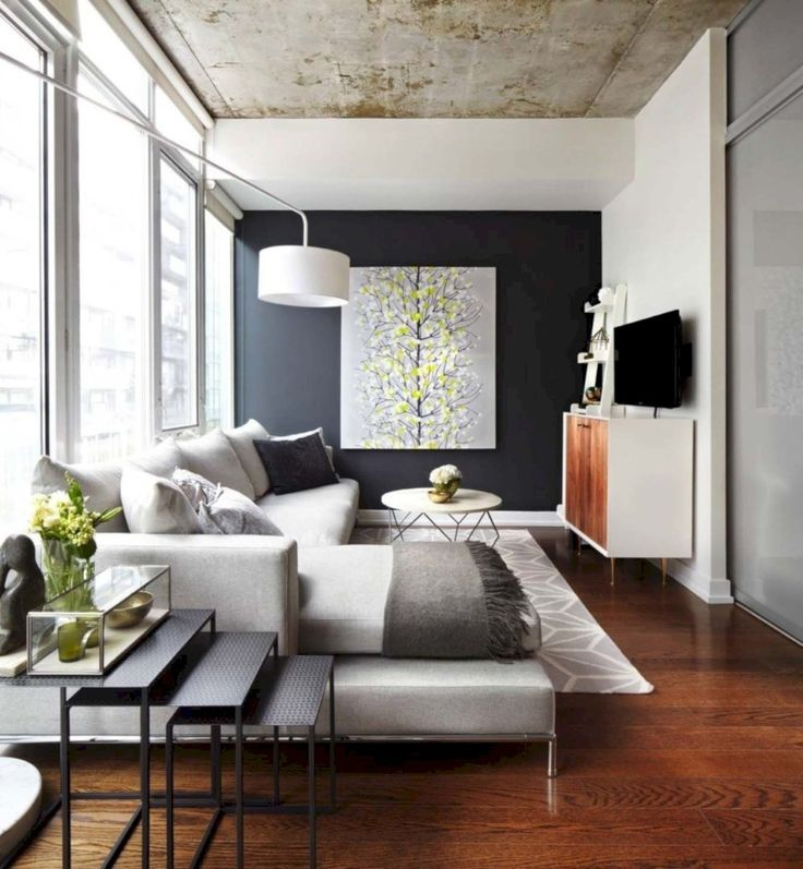 Awesome 48 Awesomely Stylish Urban Living Rooms Design Ideas. More at http://trendecor.co/2017/12/29/48-awesomely-stylish-urban-living-rooms-design-ideas/