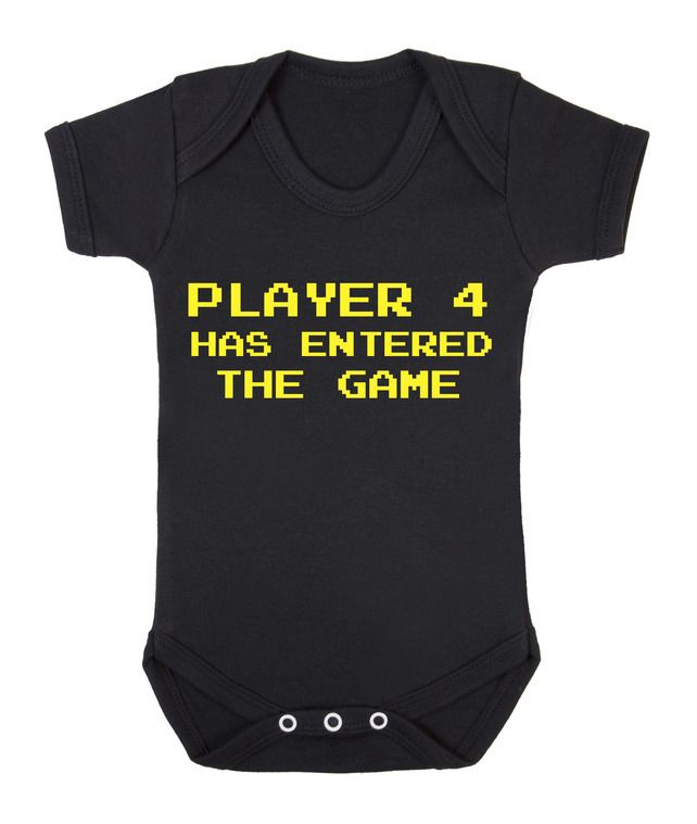 Player 4 has entered the Game funny baby grow onesie £7.95