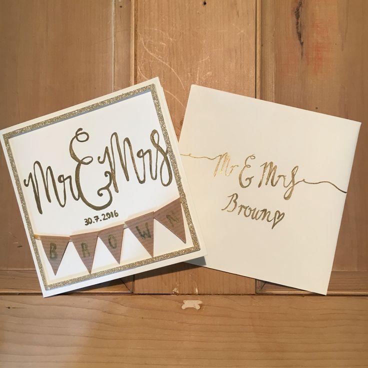 2016.07.30 Mr & Mrs Brown wedding card
