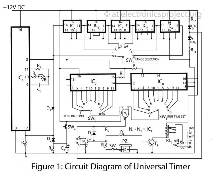 circuit diagram of universal timer