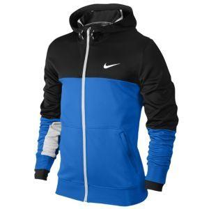 Nike XD Full Zip Hoodie - Men's - Basketball - Clothing - White/Obsidian/Photo Blue