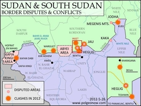 Sudan & South Sudans Top 8 Border Disputes   Geospatial Human Geography   Scoop.it (several maps on these pages)