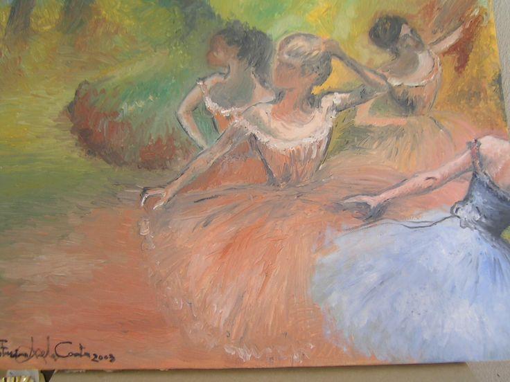 """""""Le ballerine di Degas"""" olio su tela ... scopri la mia arte su http://www.arch-garden.it/la-mia-arte.html"""