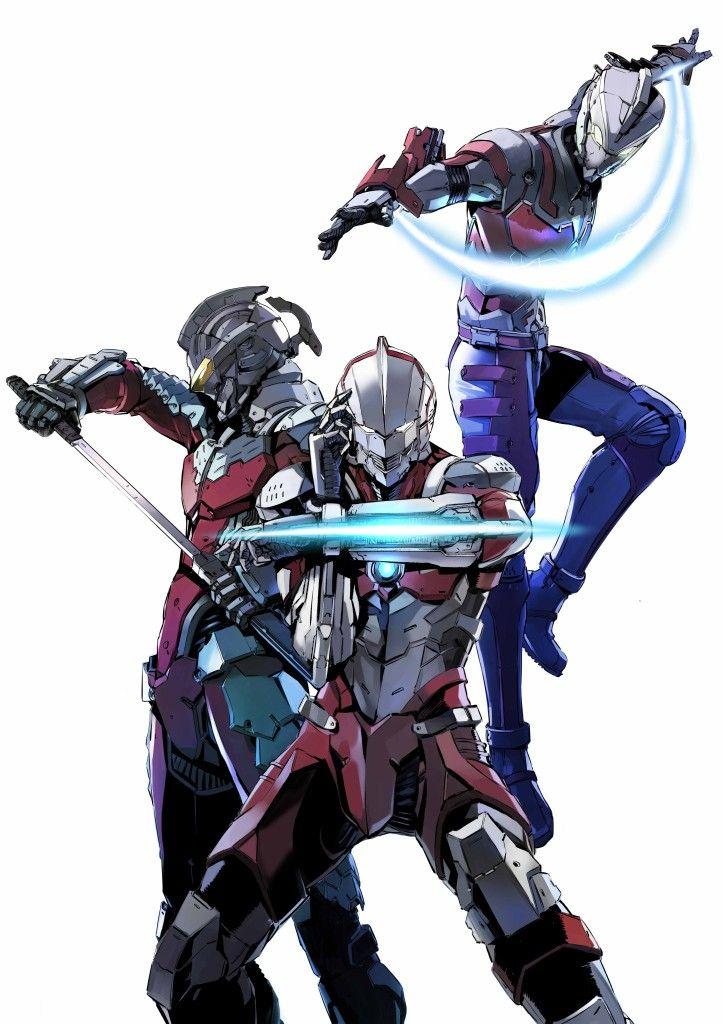 ULTRAMAN Japanese superheroes, Concept art characters