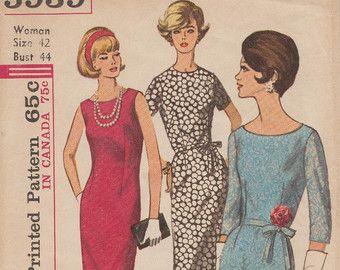 Eenvoud 3062 Vintage naaien patroon jaren door BluetreeSewingStudio