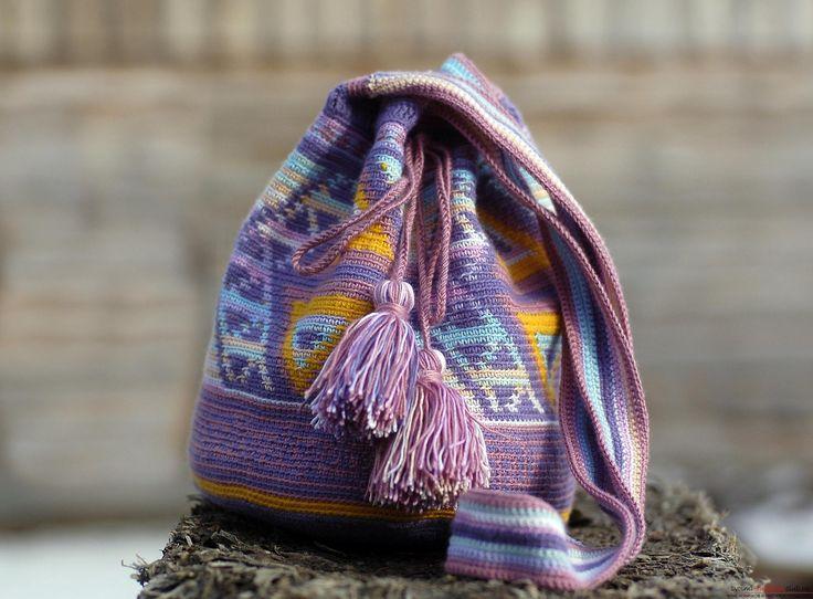 Этот мастер-класс вязания сумки крючком со схемами и описанием расскажет как связать сумку в эностиле.. Фото №1