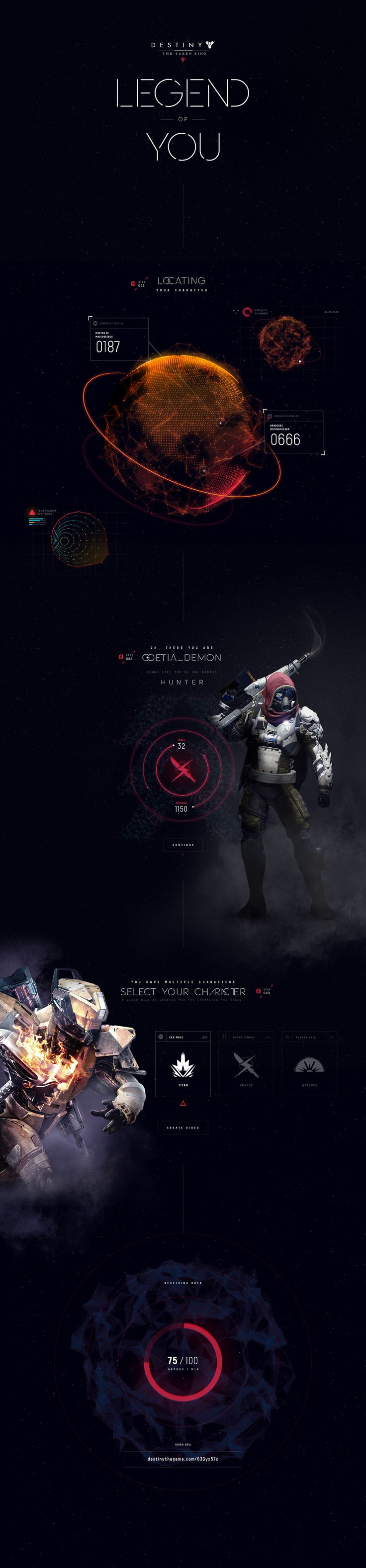 Destiny: Legend of You on Behance
