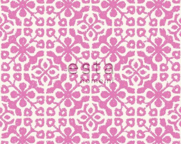 eurowalls pink geometric wallpaper kitsch ginger 2016