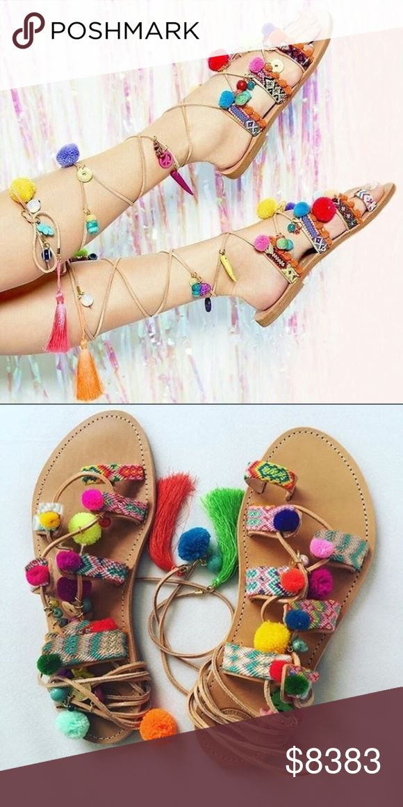 30% OFF BUNDLESCOMING SOON Carnival Sandals Fun lace up sandals. I'm offering 30% off 2 items or more. There's a $15 section at the bottom of my closet to help the discount kick in Item is new, direct from maker without store tags. PLEASE LIKE THIS LISTING FOR UPDATES The price will not be over $40. If you don't see your size, I can special order it for you  Posh Garden Shoes Sandals