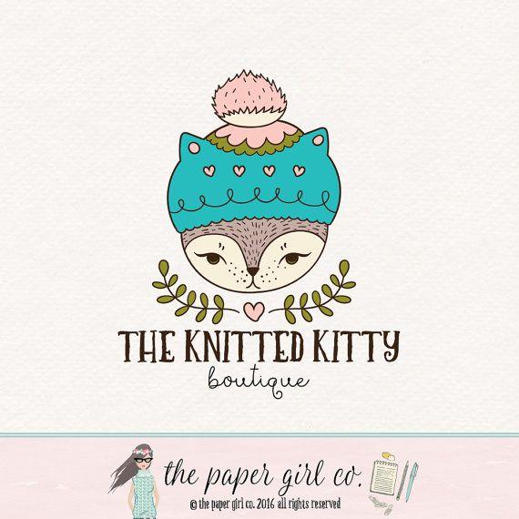cat logo woodland logo photography logo premade by ThePaperGirlCo
