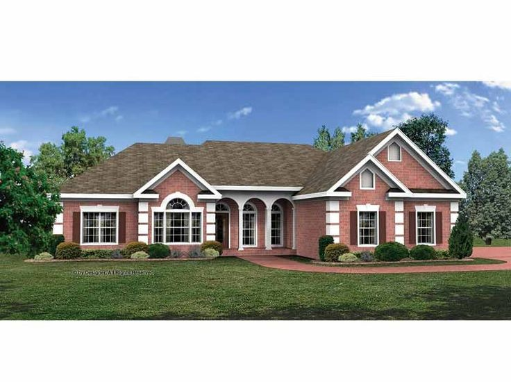 Eplans Ranch House Plan Formal Or Casual 2071 Square