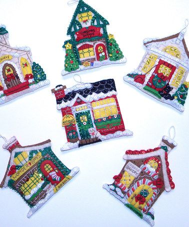 Snowy Village Ornament Craft Kit - Set of Six by Bucilla #zulily #zulilyfinds