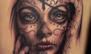 33 Crazily Gorgeous Sugar Skull Tattoos