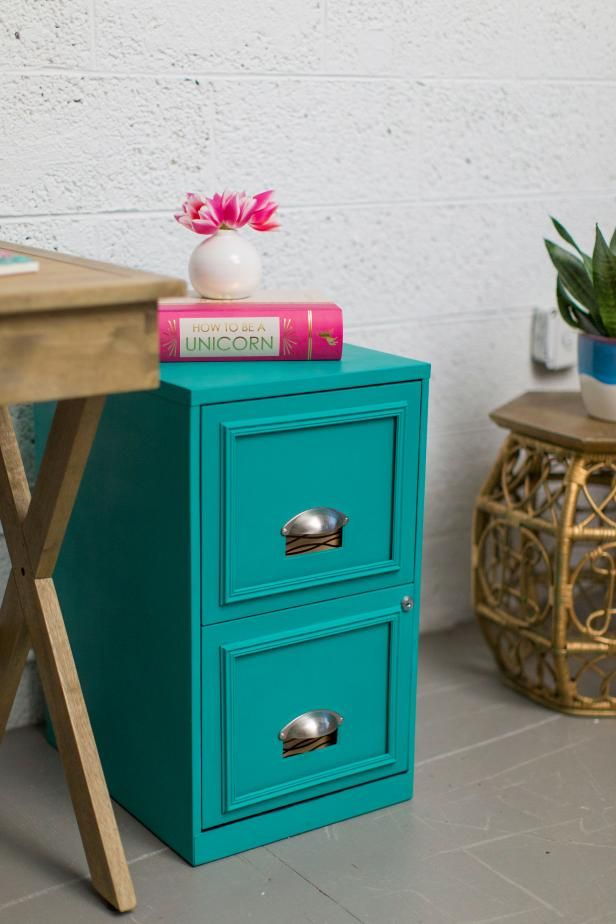 Chic Filing Cabinet Makeover