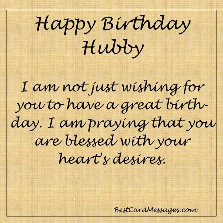 Inspirational Birthday Message for your Husband. #husband #birthday #card #message