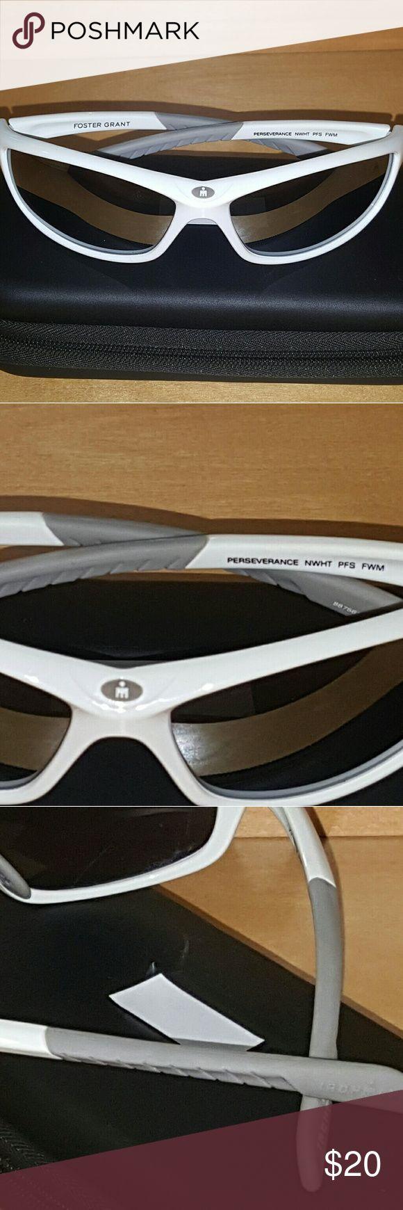"Men's Foster Grant ""IRONMAN"" Sunglasses - White Brand New. White Frame. By Foster Grant. Sports Sunglasses Foster Grant Accessories Sunglasses"