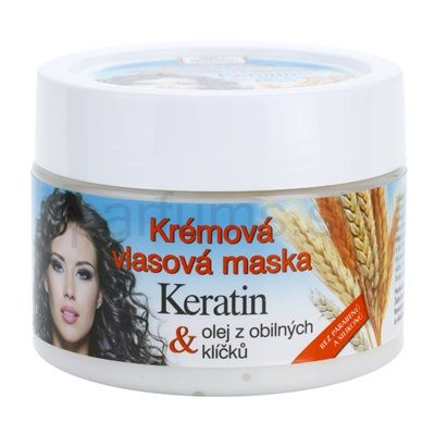 Bione Cosmetics Keratin Grain, krémová maska pre všetky typy vlasov   parfums.sk