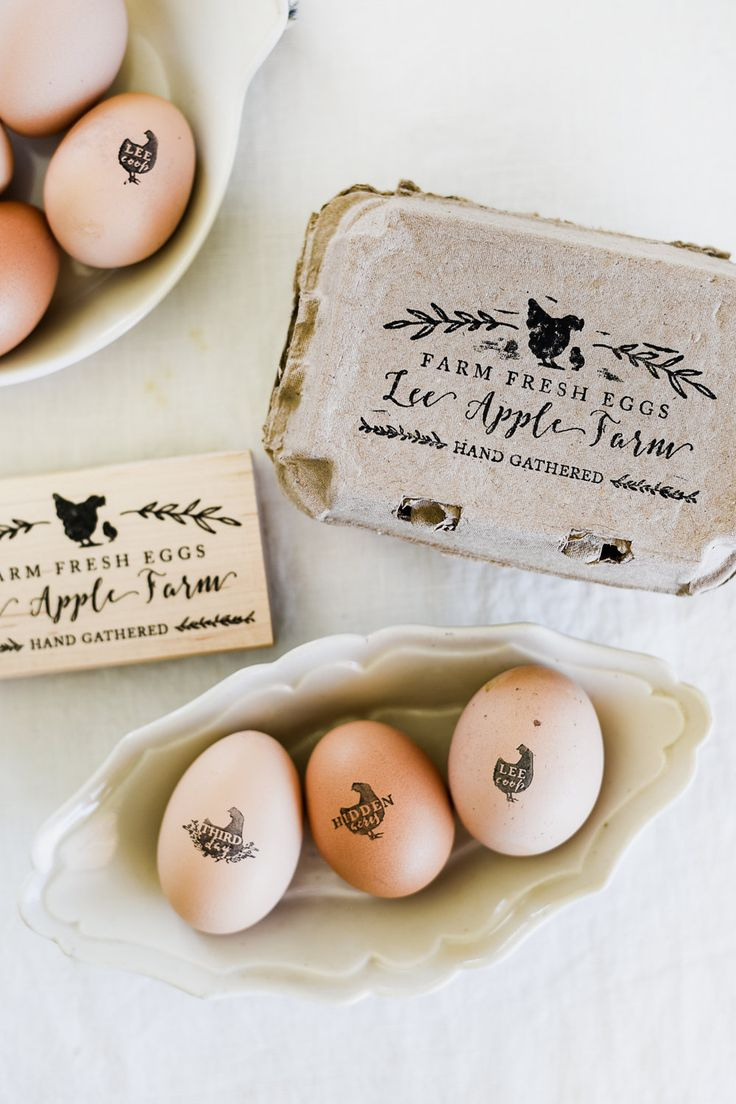 Add the perfect finishing touch to your farm fresh eggs - your neighbors and customers will love it! This is the perfect gift for chicken lovers! This listing includes one custom egg carton stamp with the option of adding on a custom chicken egg stamp. Important: blot your egg stamp on a
