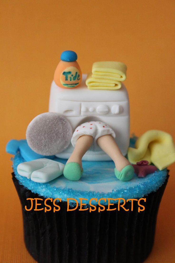 - a Debbie Brown cake design miniturized onto a cupcake